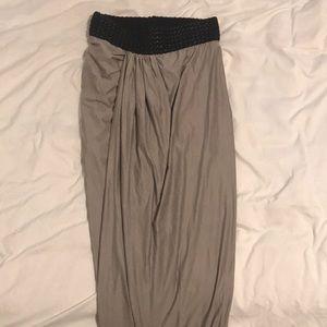 Venus gray maxi skirt w/ side slit